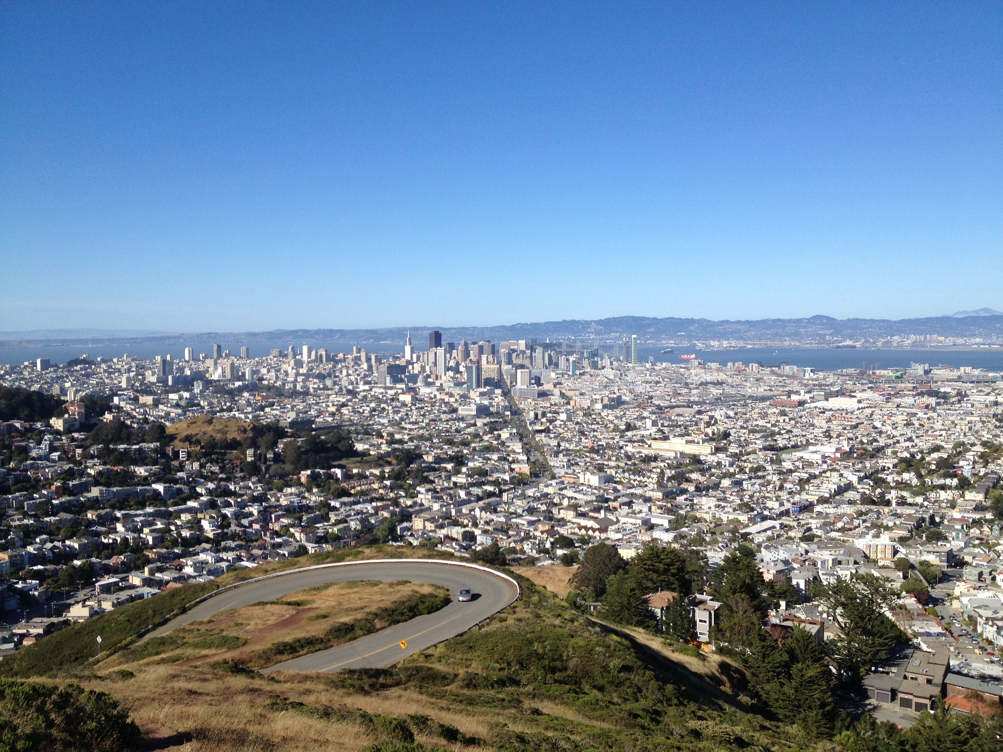 San Francisco vista da Twin Peaks