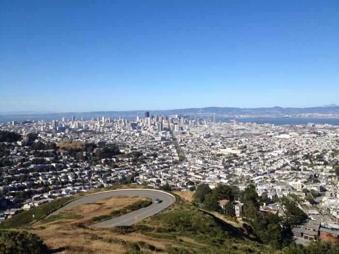 San Francisco vista da Twin Peaks