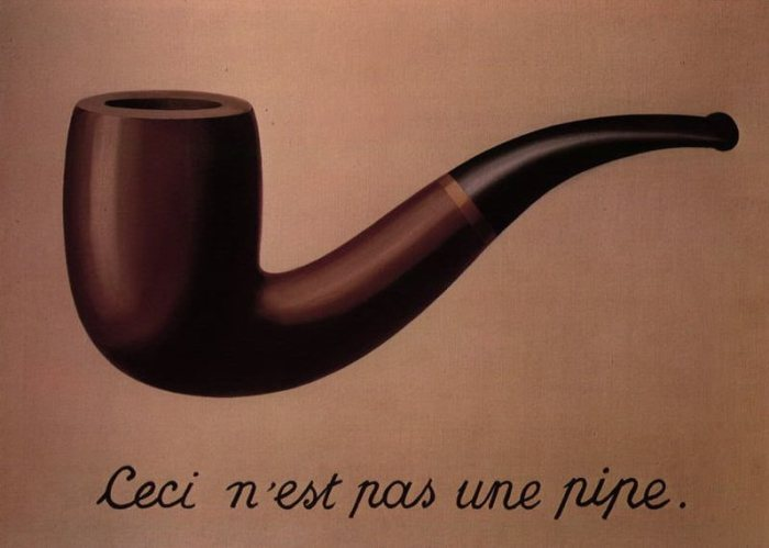 La Trahison des Images; Magritte, (1929) credits: Wikipedia.